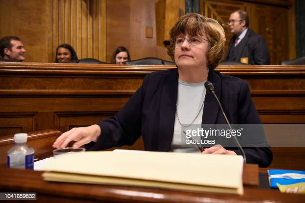 Rachel Mitchell a prosecutor from Arizona is seen prior to Christine Blasey Ford the woman accusing Supreme Court nominee Brett Kavanaugh of sexually...