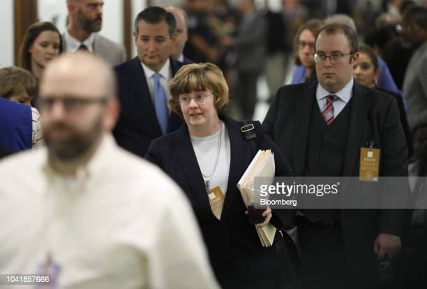 Rachel Mitchell a Republican prosecutor from Arizona arrives back for a Senate Judiciary Committee hearing in Washington DC US on Thursday Sept 27...