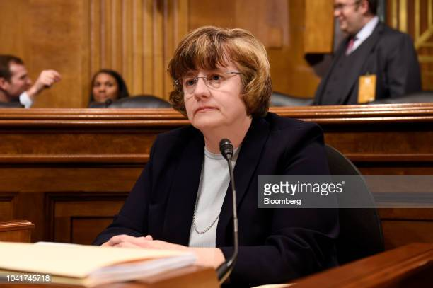 Rachel Mitchell a Republican prosecutor from Arizona listens during a Senate Judiciary Committee hearing in Washington DC US on Thursday Sept 27 2018...