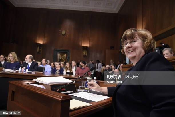 Rachel Mitchell a Republican prosecutor from Arizona smiles during a Senate Judiciary Committee hearing in Washington DC US on Thursday Sept 27 2018...