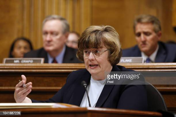 Rachel Mitchell ask questions to Dr. Christine Blasey Ford at the Senate Judiciary Committee hearing on the nomination of Brett Kavanaugh to be an...