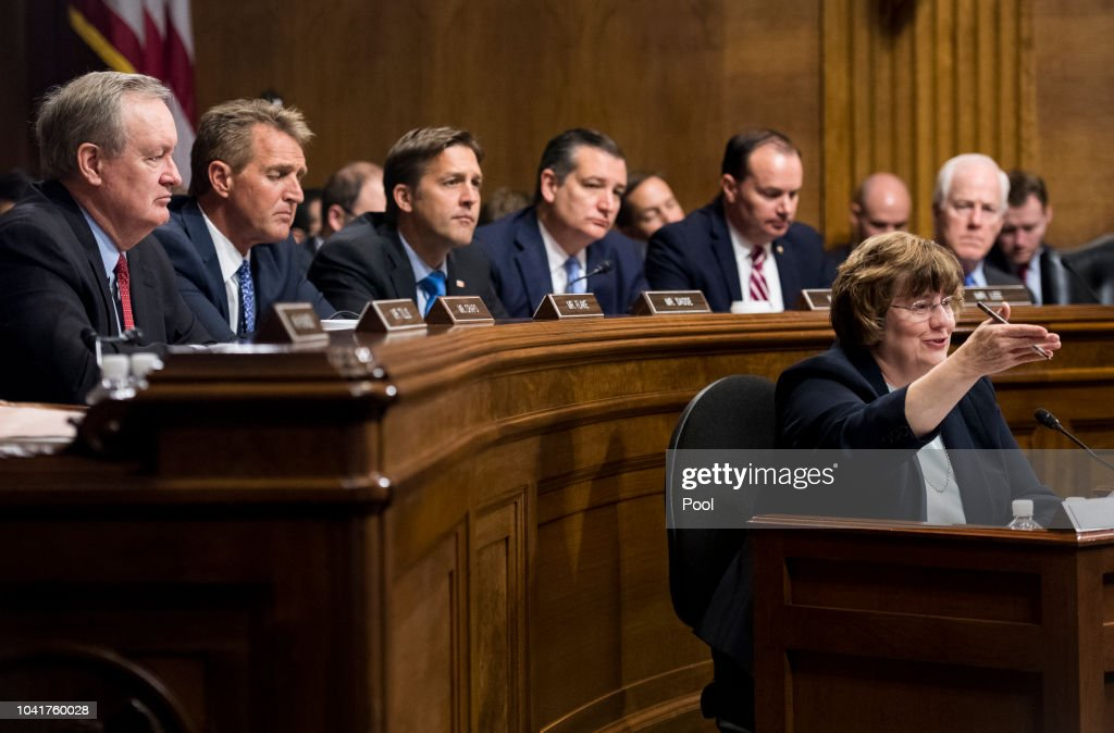 Dr. Christine Blasey Ford And Supreme Court Nominee Brett Kavanaugh Testify To Senate Judiciary Committee : ニュース写真