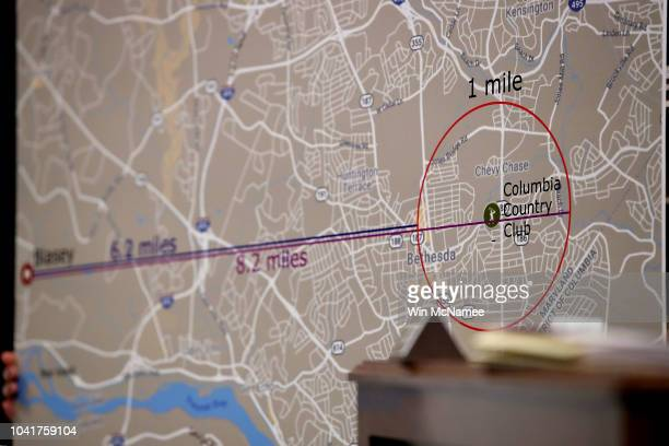 Rachel Mitchell the chief of the Special Victims Division of the Maricopa County attorneyÕs office in Arizona uses a map of the area around the...