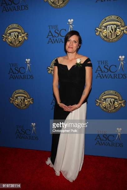 Rachel Morrison attends the 32nd Annual American Society Of Cinematographers Awards at The Ray Dolby Ballroom at Hollywood Highland Center on...
