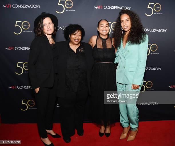 Rachel Morrison LaToya Morgan Deniese Davis and Melina Matsoukas attend AFI Conservatory's 50th Anniversary Celebration at Greystone Mansion on...