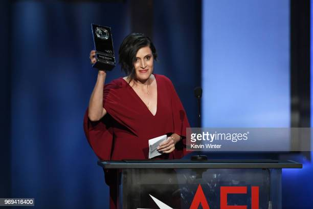 Rachel Morrison receives award onstage during the American Film Institute's 46th Life Achievement Award Gala Tribute to George Clooney at Dolby...