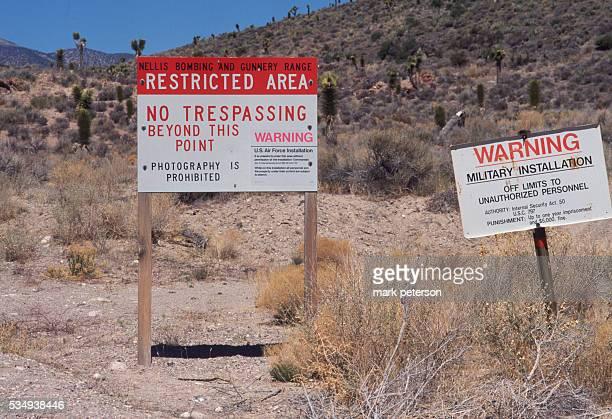 Near secret US military installation Area 51