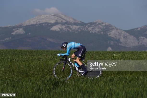 Rachel Neylan of Australia and Movistar Team during the 31st Women WT EmakumeenBira Stage 2 266km Individual Time Trial from Agurain to Gastetz on...