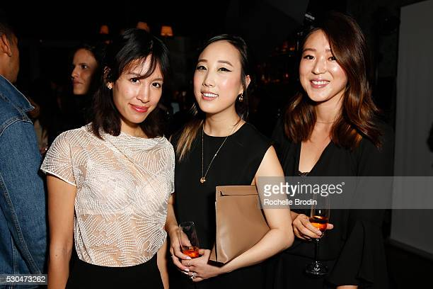 Rachel Ngyuen Erica Choi and Annie Lee attend the Who What Wear Visionaries Launch at Ysabel on May 10 2016 in West Hollywood California