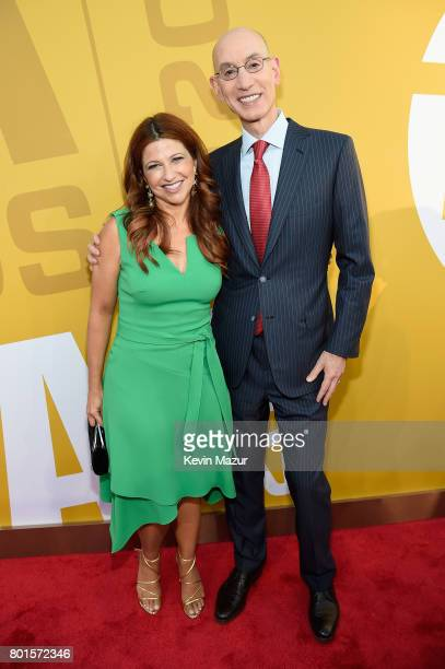 Rachel Nichols and NBA Commissioner Adam Silver attend the 2017 NBA Awards Live on TNT on June 26 2017 in New York New York 27111_002