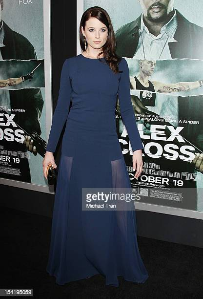 Rachel Nichols arrives at the Los Angeles premiere of 'Alex Cross' held at ArcLight Cinemas Cinerama Dome on October 15 2012 in Hollywood California