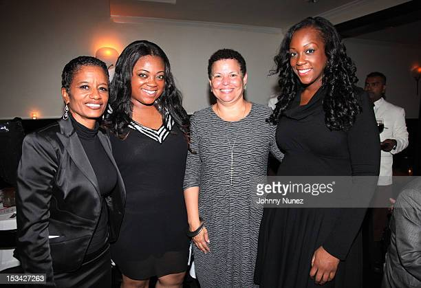 Rachel Noerdlinger Ashley Sharpton Debra Lee and Dominique Sharpton attend Rev Al Sharpton's Birthday Celebration at Philippe Chow on October 4 2012...