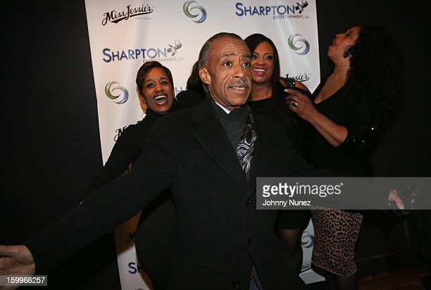 Rachel Noerdlinger Reverend Al Sharpton Ashley Sharpton and Kathy Jordan attend the Sharpton Entertainment Official Launch Event at Parlor on January...