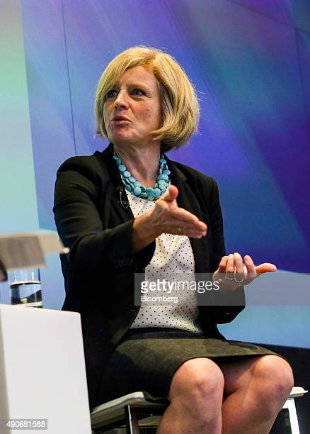 Rachel Notley Alberta's premier speaks during an interview at the Canadian Fixed Income Conference in New York US on Wednesday Sept 30 2015 Kinder...
