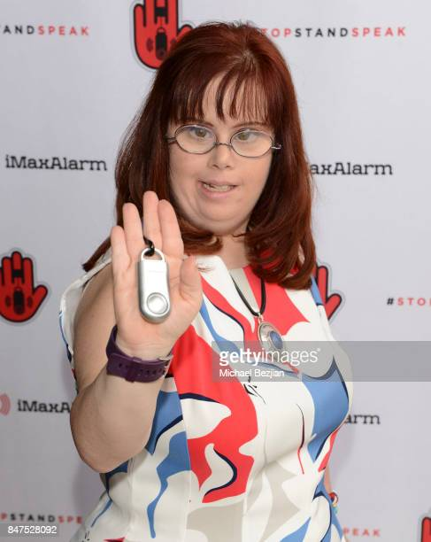 Rachel Osterbach attends iMaxAlarm pledges to #StopStandSpeak against Street Harassment at the GBK Pilot Pen Pre Awards Celebrity Lounge 2017 Day 1...