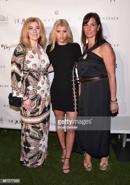 Rachel Paletsky Ash Sofia Richie and Tricia Williams attend DuJour's Jason Binn And WellNEST Celebrate Miami Beach's Art Basel KickOff at The...