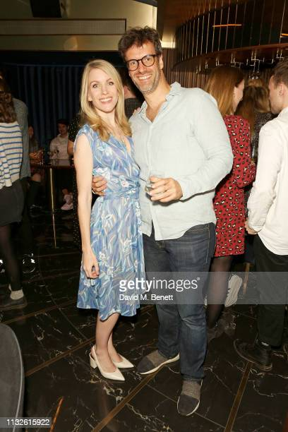 Rachel Parris and Marcus Brigstocke attend a party hosted by Gina Martin and Ryan Whelan to celebrate the Royal ascent into law of the Voyeurism Bill...