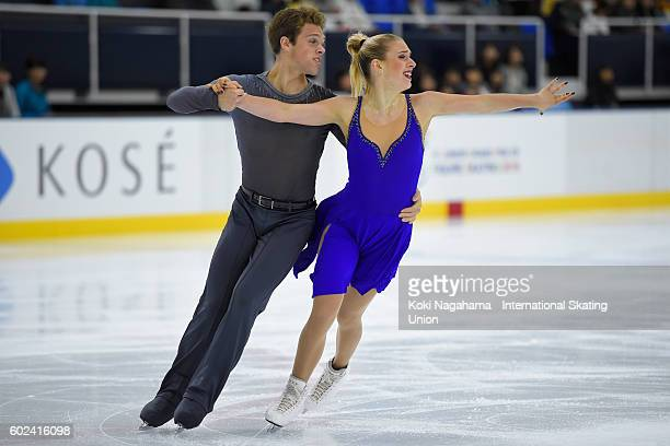 Rachel Parsons and Michael Parsons of United States compete in the junior ice dance free dance free program during the ISU Junior Grand Prix of...