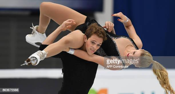 Rachel Parsons and Michael Parsons perform during their ice dance short program at the Rostelecom Cup 2017 ISU Grand Prix of Figure Skating in Moscow...