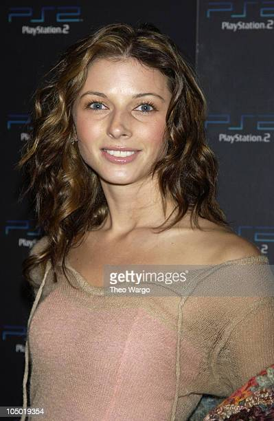 Rachel Perry during East Battles West in PlayStation2 Online Gaming Tournament for Charity at Splashlight Studios in New York City New York United...