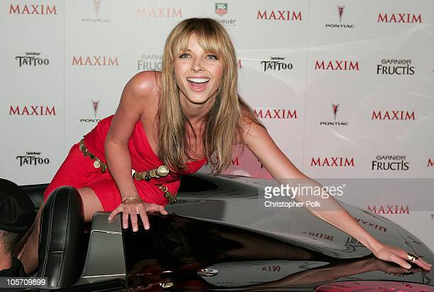 Rachel Perry during Maxim Magazine's Hot 100 Arrivals at Montmartre Lounge in Hollywood California United States