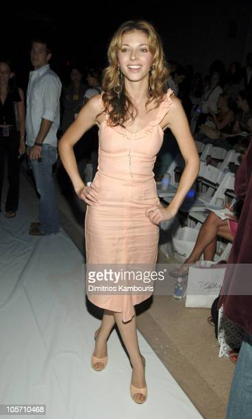 Rachel Perry during Olympus Fashion Week Spring 2006 Esteban Cortazar Front Row and Backstage at Bryant Park in New York City New York United States