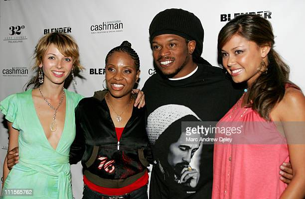 Rachel Perry MC Lyte Sway and Vanessa Minnillo during LIVE 8 Philadelphia Blender Magazine After Party at 32 Degrees Lounge in Philadelphia...