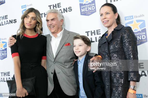 Rachel Pierce Steve Taub Ethan Jones and Joanne Jones attend The Thalians Hollywood for Mental Health Presidents Club Party at Dorothy Chandler...