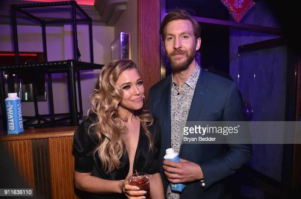 Rachel Platten and Calvin Harris attends the 60th Annual Grammy Awards after party hosted by Benny Blanco and Diplo with SVEDKA Vodka and Interscope...