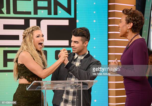 AMERICA Rachel Platten and Joe Jonas announced the nominations for the 2016 American Music Awards live on GOOD MORNING AMERICA 10/10/16 Both found...