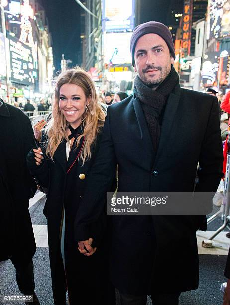 Rachel Platten and Kevin Lazan attend New Year's Eve 2017 in Times Square on December 31 2016 in New York City