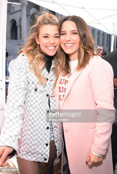 Rachel Platten and Sophia Bush at 2018 Women's March Los Angeles at Pershing Square on January 20 2018 in Los Angeles California
