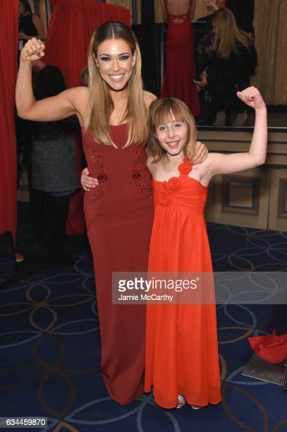Rachel Platten and Sophia Montoya attend the American Heart Association's Go Red For Women Red Dress Collection 2017 presented by Macy's at Fashion...