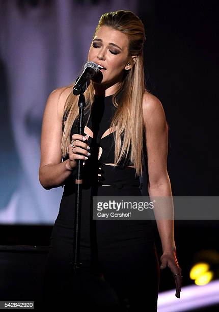 Rachel Platten performs at the 2016 Logo's Trailblazer Honors at Cathedral of St John the Divine on June 23 2016 in New York City Trailblazer Honors...