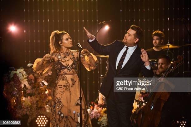 Rachel Platten performs during 'The Late Late Show with James Corden' Wednesday January 10 2018 On The CBS Television Network