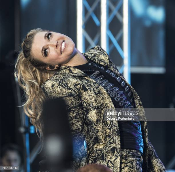 Rachel Platten performs live on the TODAY Show's Concert series at Rockefeller Plaza on October 27 2017 in New York City