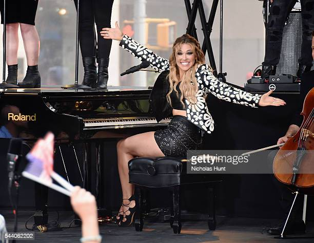 Rachel Platten Performs On NBC's Today at Rockefeller Plaza on July 1 2016 in New York City