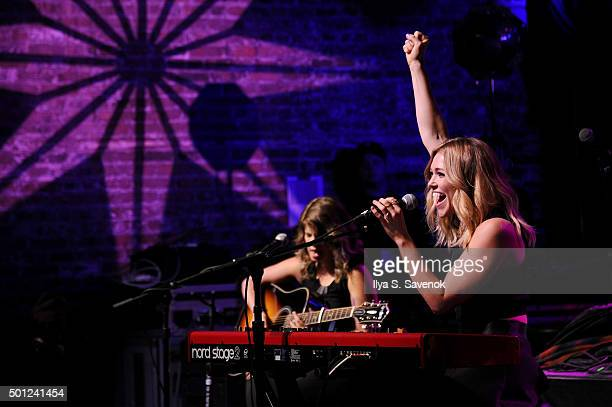 Rachel Platten performs onstage at TJ Martell Foundation's 16th Annual New York Family Day at Brooklyn Bowl on December 13 2015 in New York City