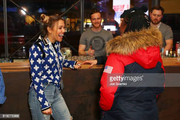Rachel Platten visits with US Olympians at the USA House at the PyeongChang 2018 Winter Olympic Games on February 17 2018 in Pyeongchanggun South...
