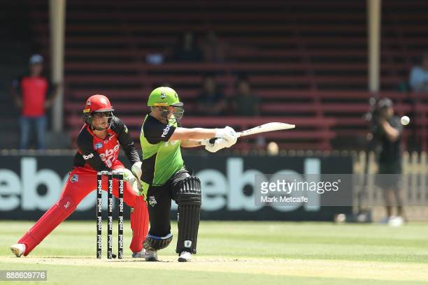 Rachel Priest of the Thunder bats during the Women's Big Bash League WBBL match between the Melbourne Renegades and the Sydney Thunder at North...