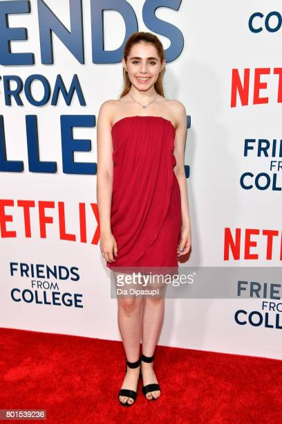 Rachel Resheff attends the 'Friends From College' New York premiere at AMC 34th Street on June 26 2017 in New York City