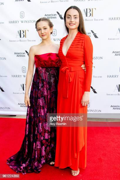 Rachel Richardson and Claire Davison attend the 2018 American Ballet Theatre Spring Gala at The Metropolitan Opera House on May 21 2018 in New York...