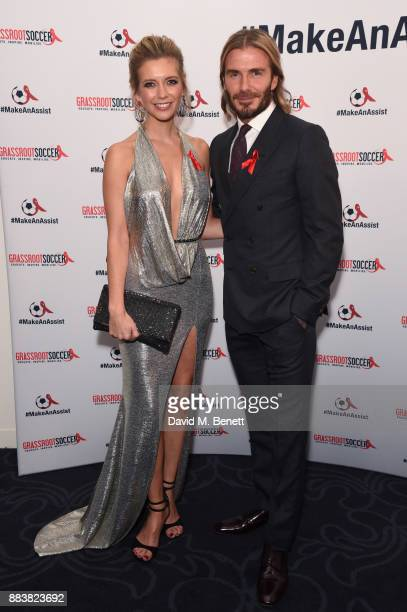 Rachel Riley and David Beckham attend the World Aids Day Charity Gala aimed at using football to educate and inspire vulnerable young people in...