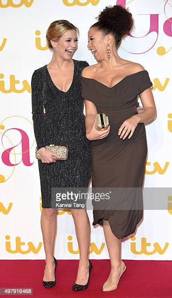 Rachel Riley and Natalie Gumede attend the ITV Gala at London Palladium on November 19 2015 in London England