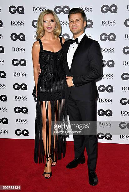 Rachel Riley and Pasha Kovalev arrive for GQ Men Of The Year Awards 2016 at Tate Modern on September 6 2016 in London England