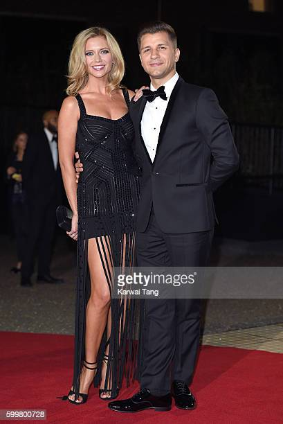 Rachel Riley and Pasha Kovalev arrive for the GQ Men Of The Year Awards 2016 at Tate Modern on September 6 2016 in London England
