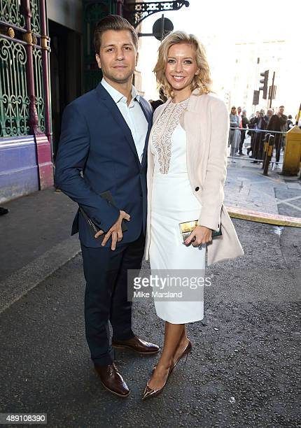 Rachel Riley and Pasha Kovalev attend the Julien Macdonald show during London Fashion Week Spring/Summer 2016/17 on September 19 2015 in London...