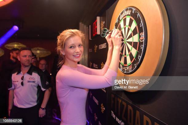Rachel Riley at Fitzdares' 'Darts at the Arts' at The Arts Club on October 30 2018 in London England