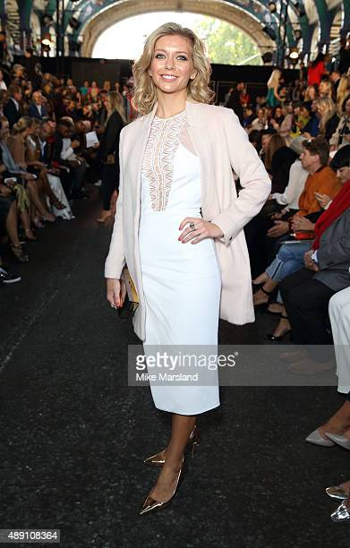 Rachel Riley attends the Julien Macdonald show during London Fashion Week Spring/Summer 2016/17 on September 19 2015 in London England