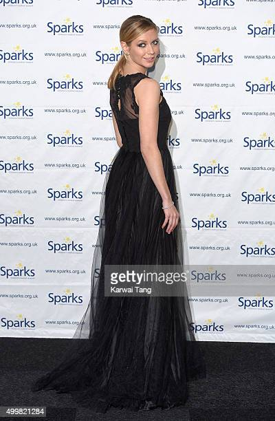 Rachel Riley attends the Sparks Winter Ball at Old Billingsgate Market on December 3 2015 in London England